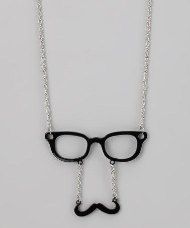Take a look at this Black Mustache Glasses Necklace by Rated G on #zulily today!