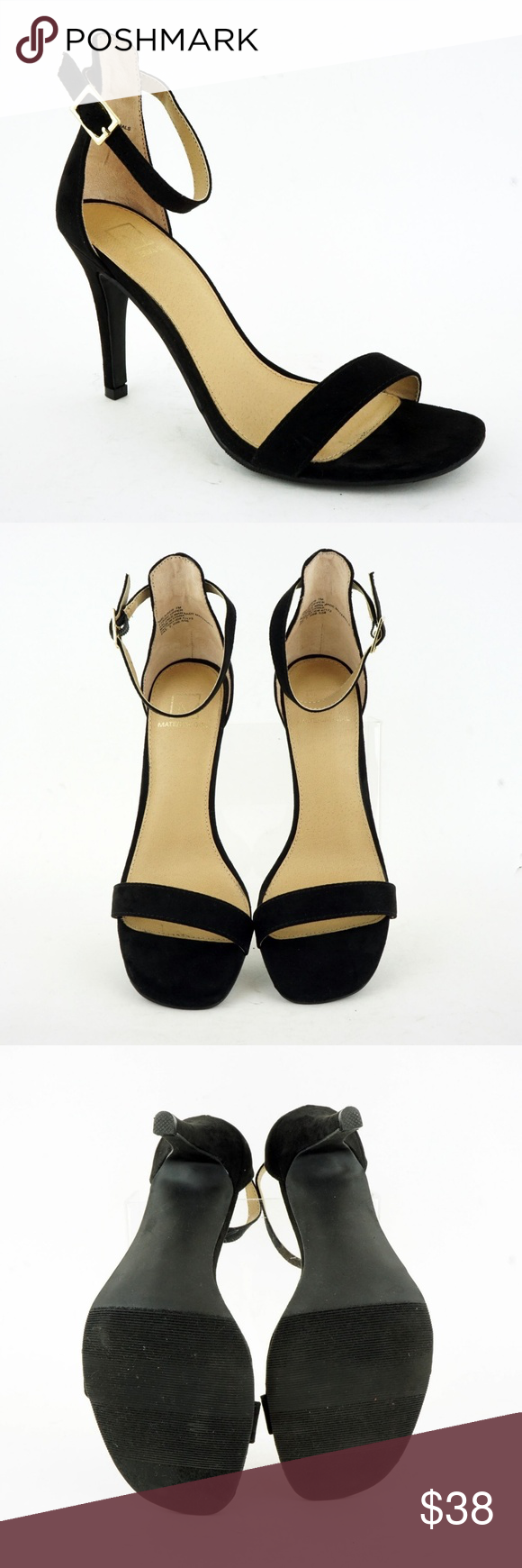 94247e79e20 Material Girl Womens Blaire Two-Piece Dress Sandal Material Girl Women s  (Sz 7) Blaire Two-Piece Dress Sandals