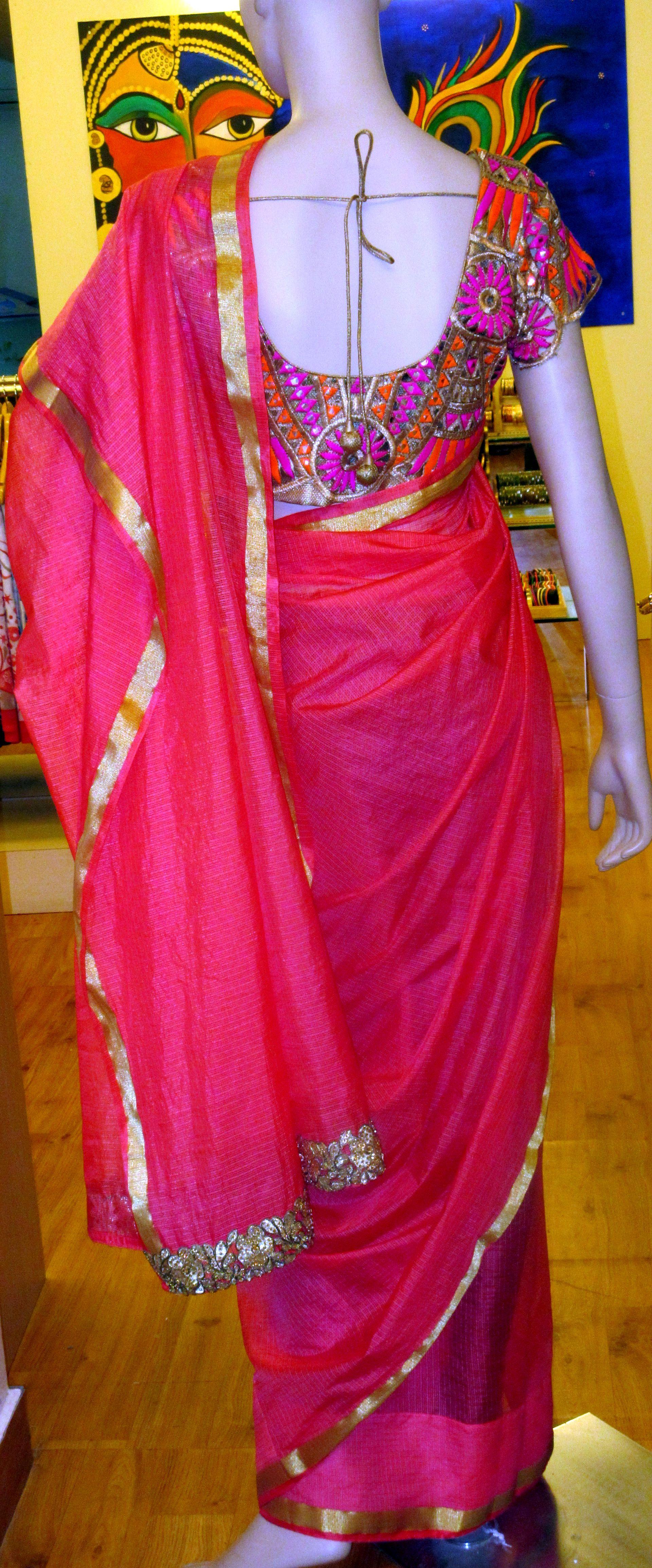 Cut work blouse and Kota saree | Samriddhi Creations | Pinterest ...