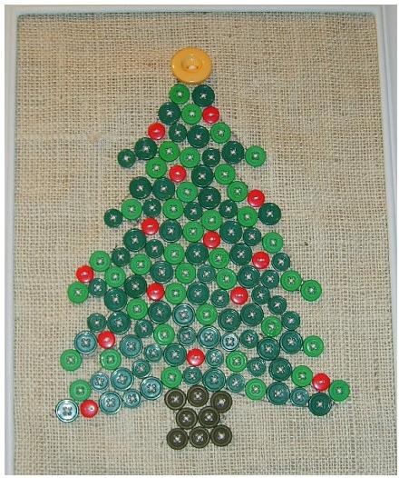 Button Art Xmas Tree Button Crafts Christmas Buttons Button Art