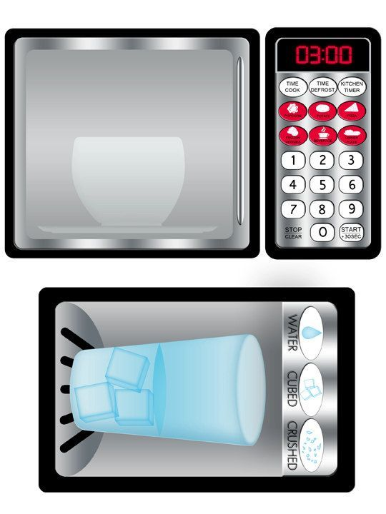 DIY Play Kitchen Printable Stainless Refrigerator and Microwave ...