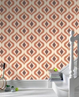 Trippy Orange Wallpaper design by Graham and Brown