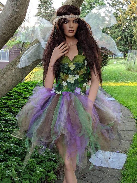 costume Adult foliage fairy