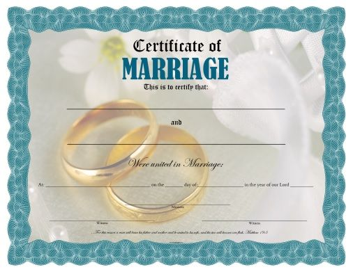 free printable certificate of marriage certificates pinterest