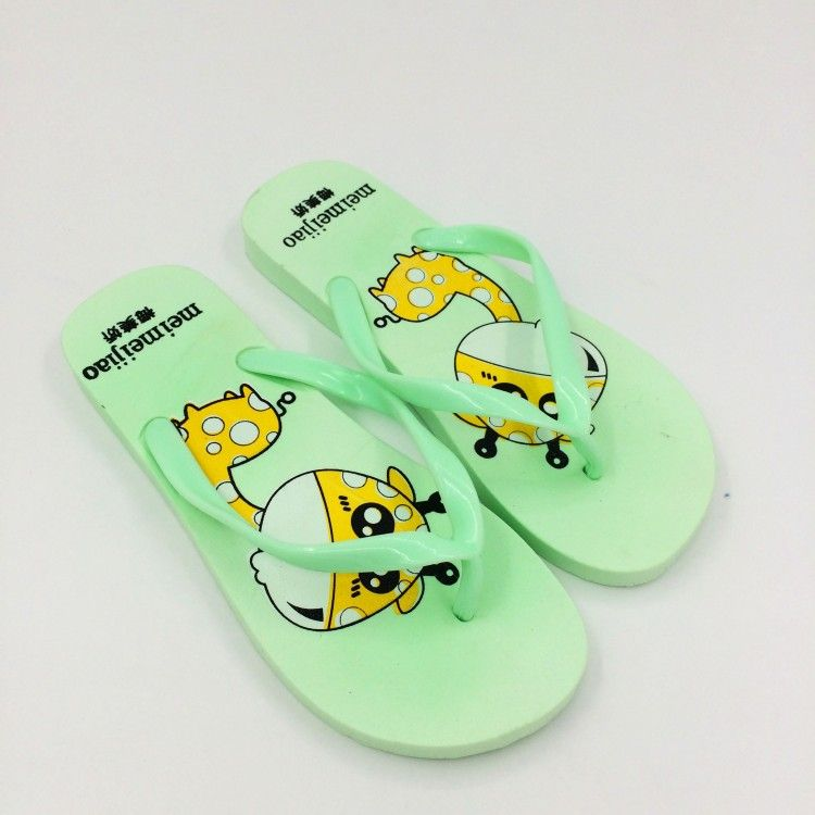 2017 Women Woman Cute Flip Flops Summer Cartoon Giraffe Flat Non Slip Home  Bathroom Slippers