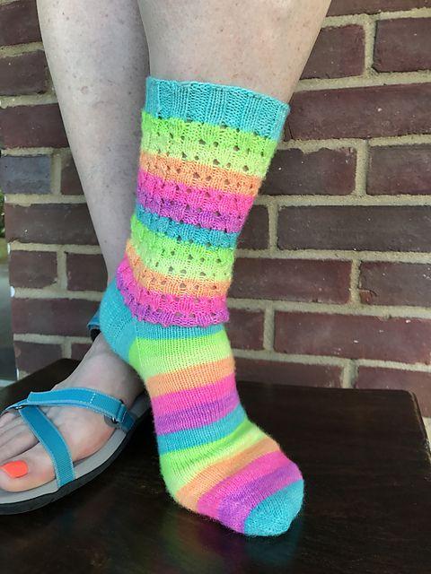 Hole Shebang Pattern By Leah Oakley Knitting Socks Patterned Socks Socks