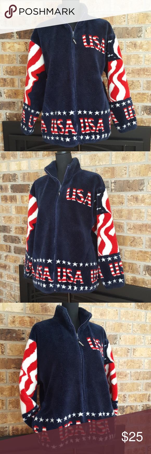 Black Mountain Outdoor Usa Fleece Jacket Fleece Jacket Jackets Fleece [ 1740 x 580 Pixel ]
