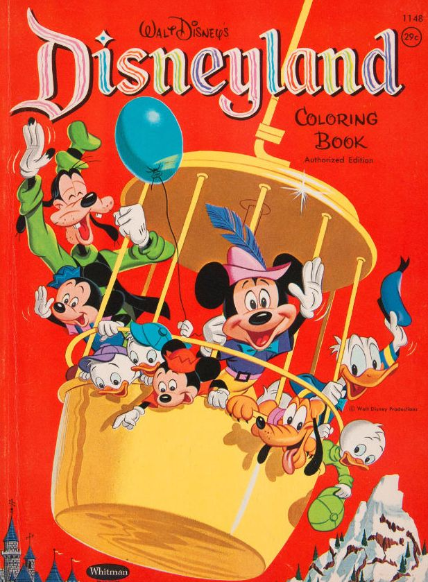 I had one of these! Vintage Disneyland Coloring Book | Disney ...