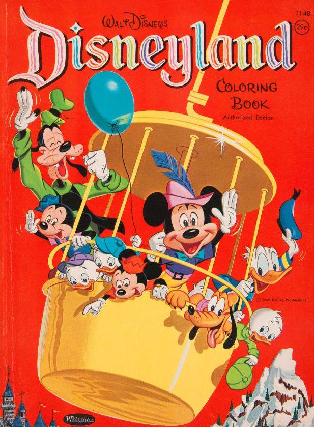 Vintage Disneyland Coloring Book