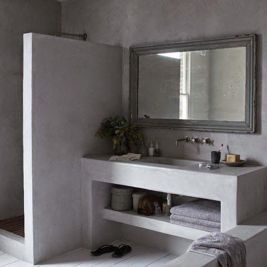 decoracion baños pequeños microcemento - Buscar con Google Baños - modelos de baos