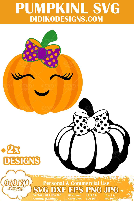 Pumpkin Girl SVG Halloween SVG Cute Pumpkin Svg