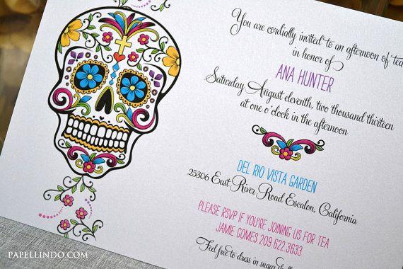 Dia De Los Muertos Day Of The Dead Invitation Sample Diy Printables Day Of The Dead Party Photo Birthday Invitations