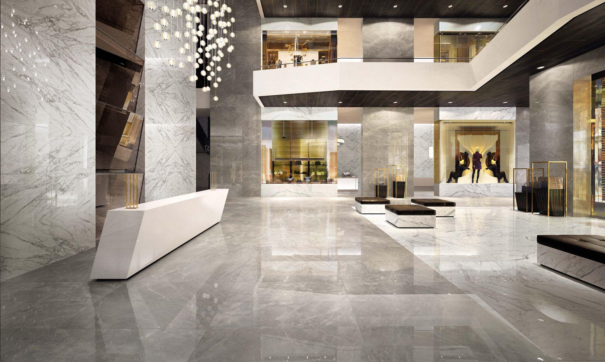 Minoli Porcelain Tiles - Evolution-Marvel Floor Tiles: Marvel Grey ...
