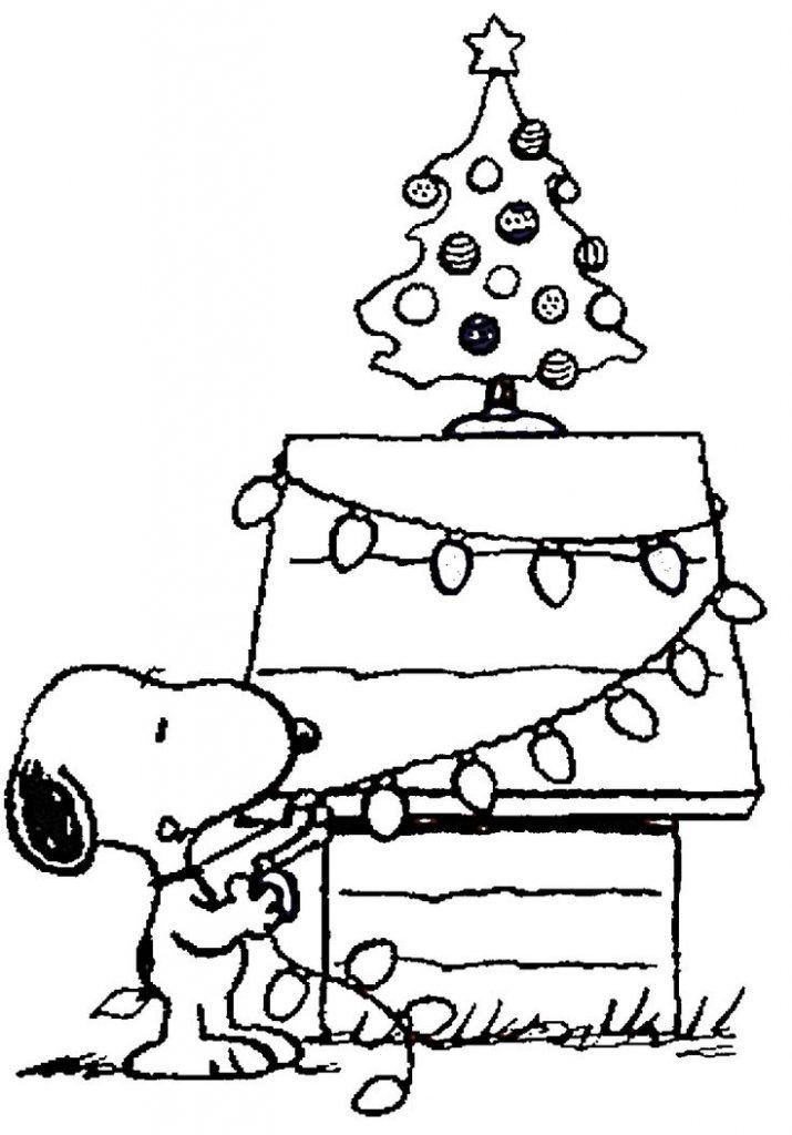 charlie brown chirstmas coloring pages - photo#20