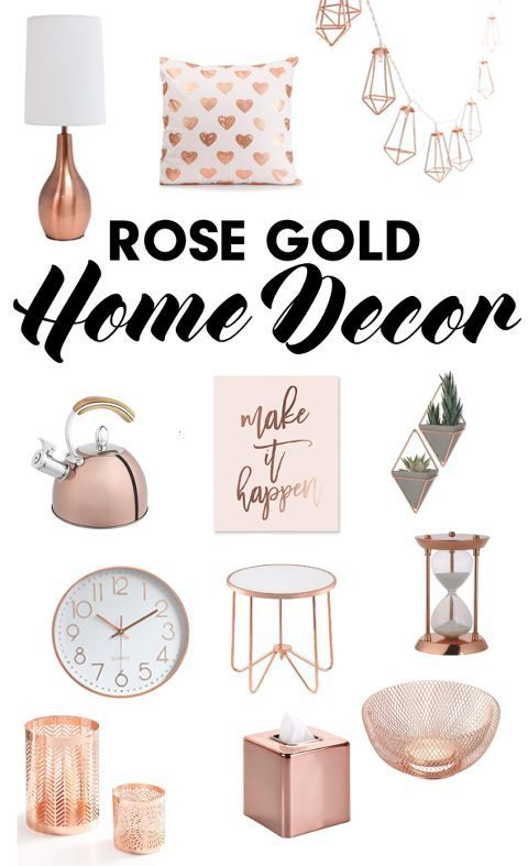 TRENDING IN HOME DESIGN & DECOR: ROSE GOLD ACCENTS #Home decor accessories TREND…