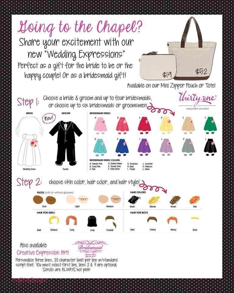 Thirty One Wedding Gift Ideas: All The Details On Our Lil' Expressions With Thirty-One
