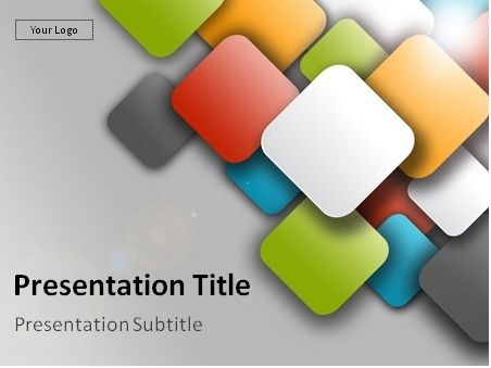 free colorful mosaic powerpoint template: this bright powerpoint, Modern powerpoint