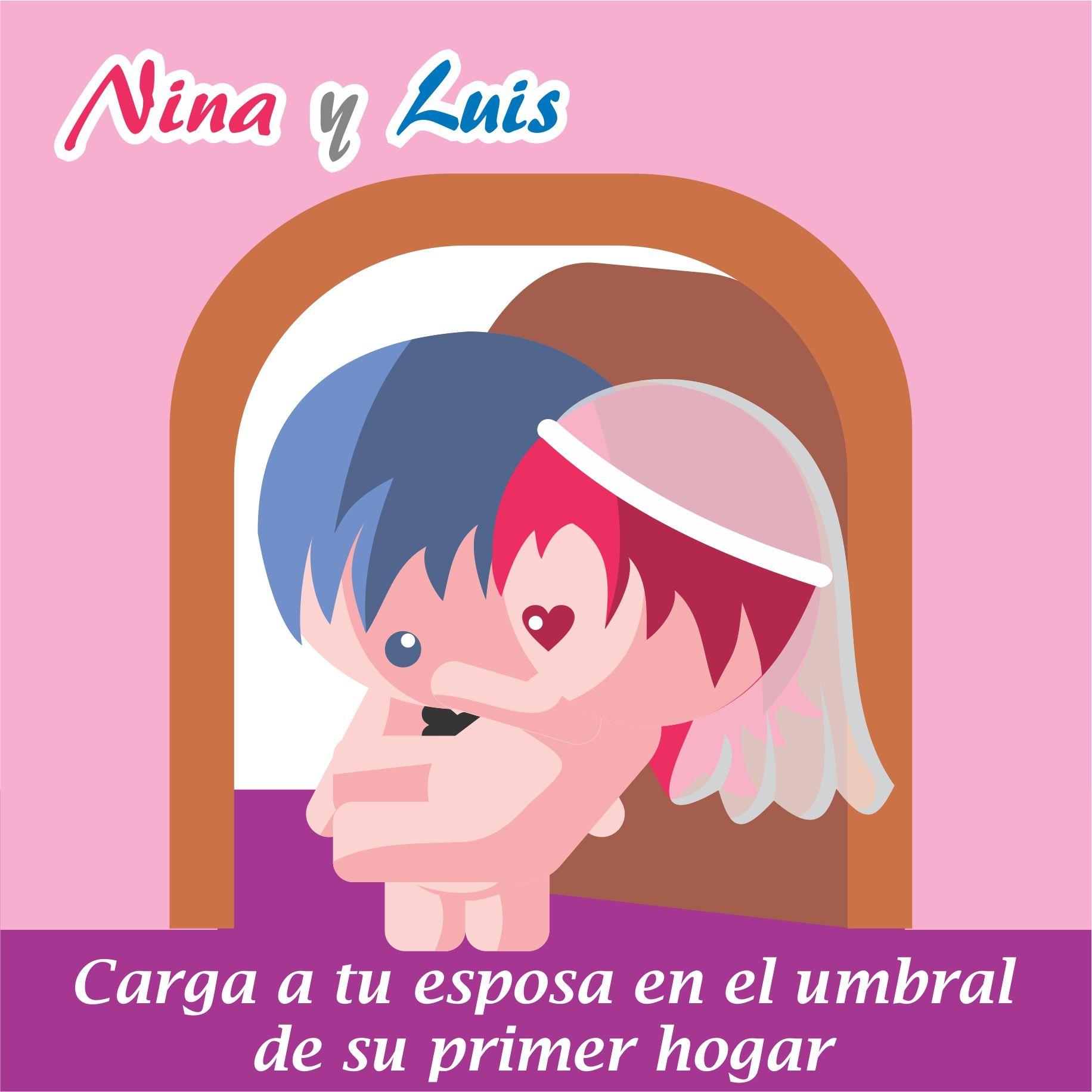 Nina y Luis primeros pasos de un matrimonio, amor, parejas dibujos ...