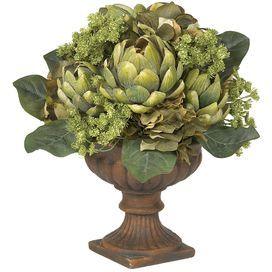 Silk Artichoke Centerpiece Flower with Pot