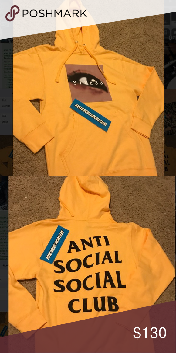 51ed17760e7b Stress hoodies anti social social clubs Just got them yesterday !!! Brand  newwww!!!! Haven t worn Hmu if u want them That s a new collecting from  assc Anti ...
