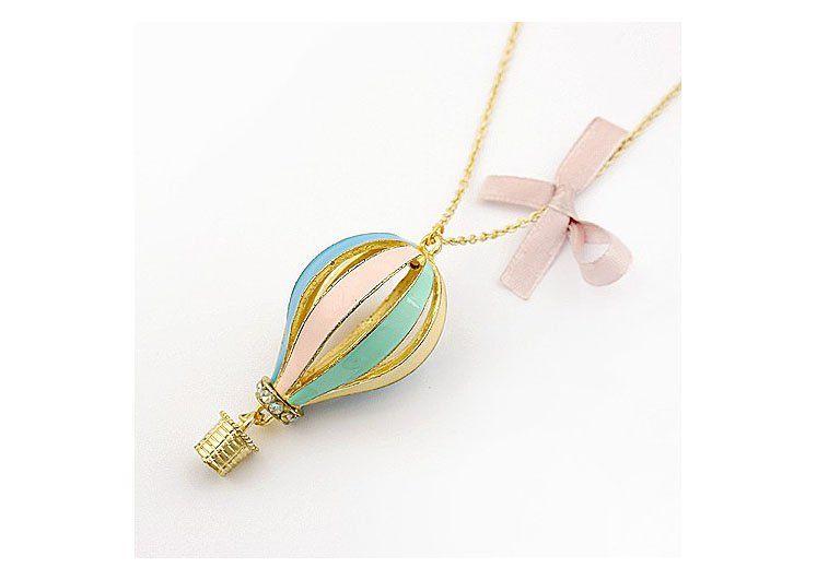 Kolorowy Balon Japan Style Vintage Tanio 3082484704 Oficjalne Archiwum Allegro Balloon Necklace Hot Air Balloon Necklace Pendant