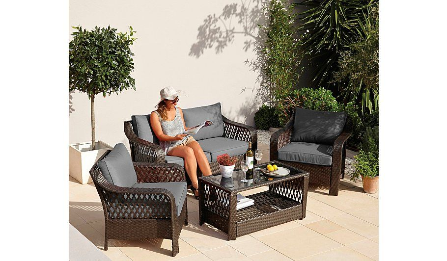 Buy Sumatra 4 Piece Deluxe Sofa Set from our Conservatory Furniture ...