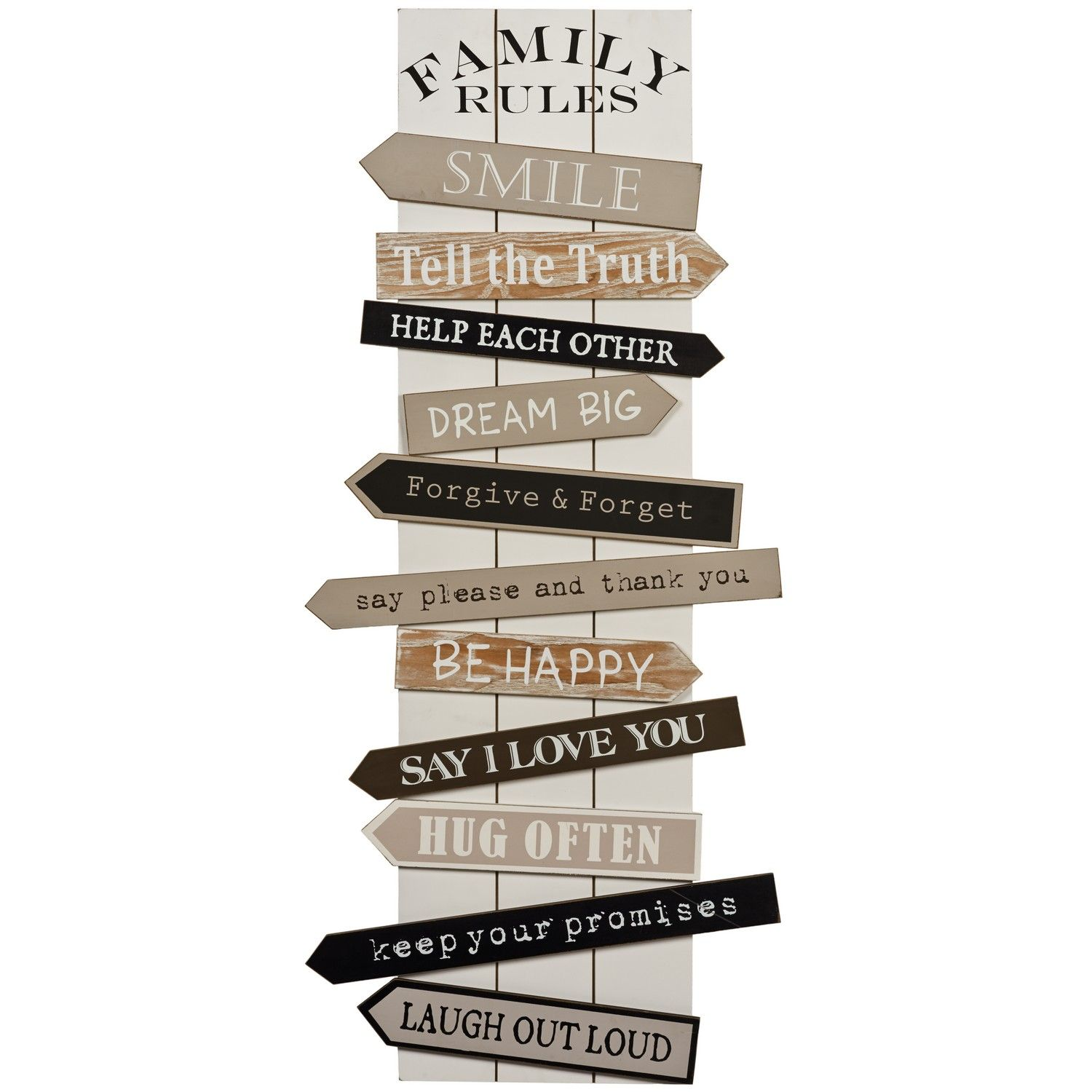 Buy Family Rules Wall Art | Wall Art | The Range