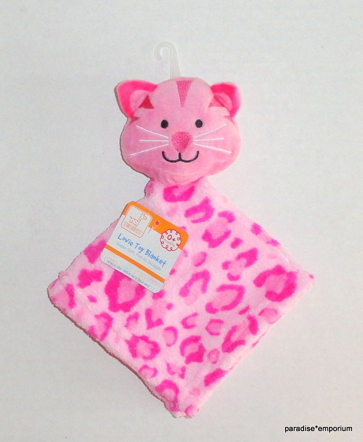 MESSAGES FROM THE HEART BEAR CAT PINK OUR PRINCESS VELOUR SATIN SECURITY BLANKET