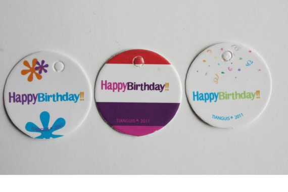 Mini tarjetas Happy Birthday Paquete 10 pzas por Tianguisonline