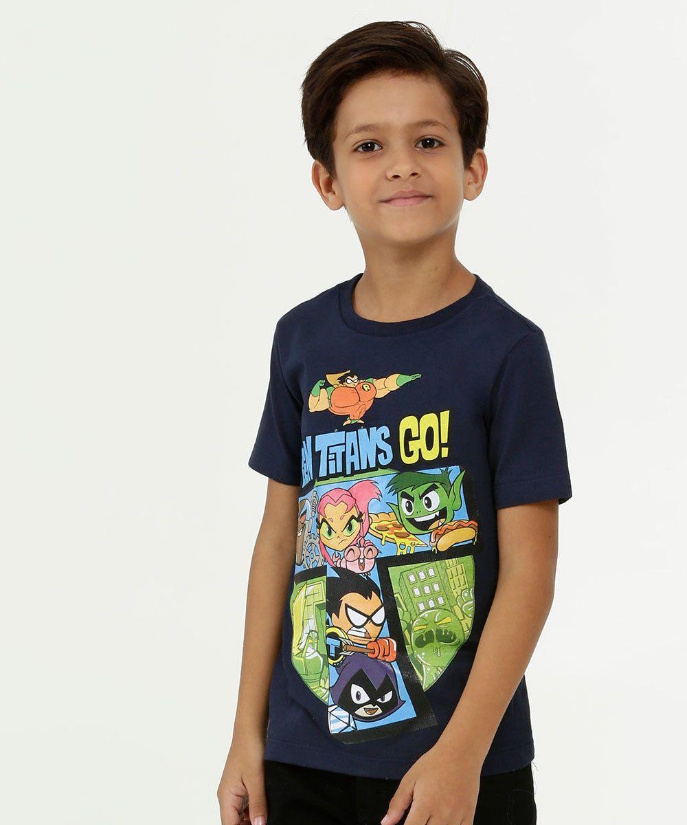 Photo of T-shirt infantil de manga curta Warner Bros Teen Titans