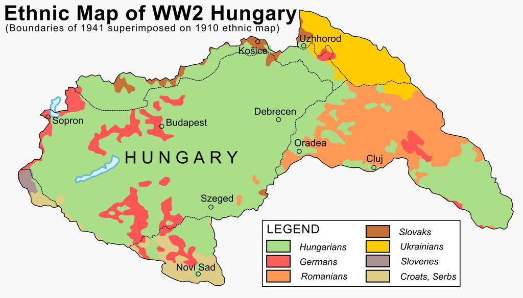 Ethnic map of hungary in 1941 art pinterest ethnic ethnic map of hungary in 1941 gumiabroncs Gallery