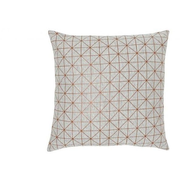 Geometric Foil Print Cushion Copper ❤ liked on Polyvore featuring home, home decor, throw pillows, gray throw pillows, copper home decor, geometric home decor, grey accent pillows and geometric throw pillows