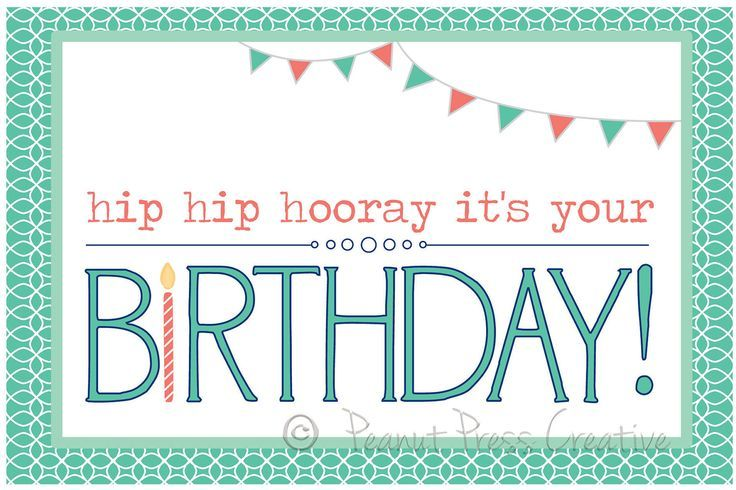 Happy Birthday Card Printable Free My Birthday – Free Birthday Cards Template