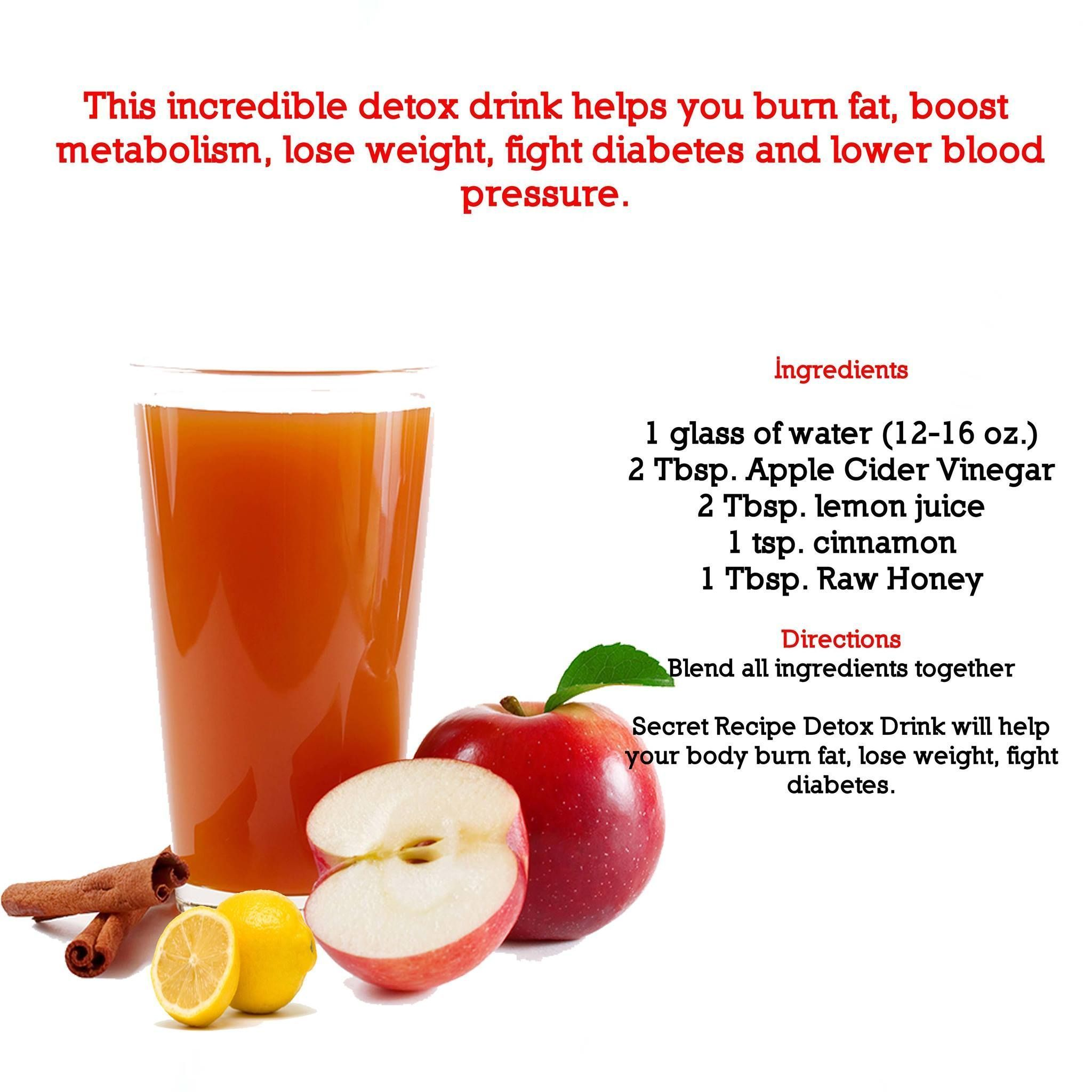 Incredible detox drink made with acv apple cider vinegarbraggus