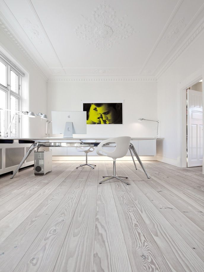 Office Furniture: Raw Wood Flooring