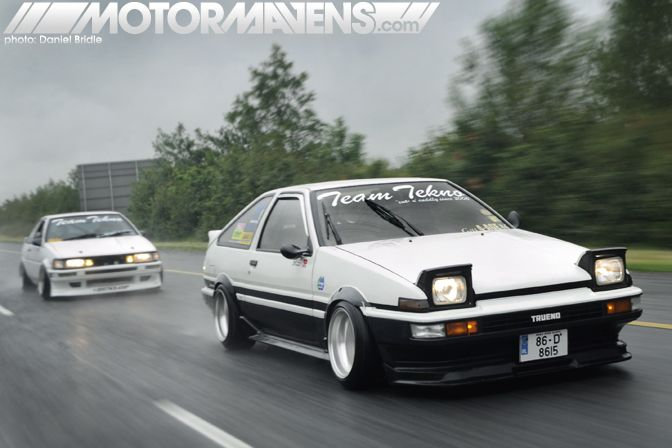 Team Tekno AE86 Trueno and AE86 Levin!  Ireland loves the AE86