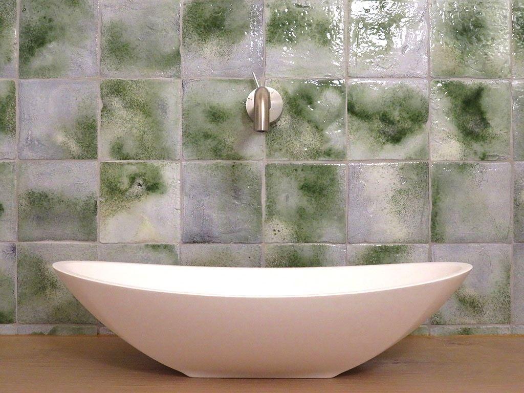 Piastrelle bagno con verde menta home arredamento vintage il