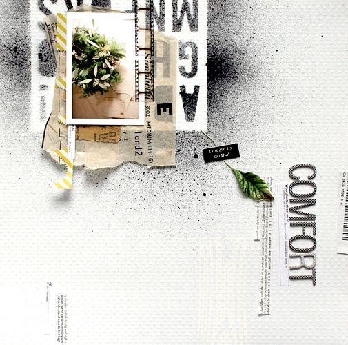 Scrapbook layout by Kaori (chelsea)