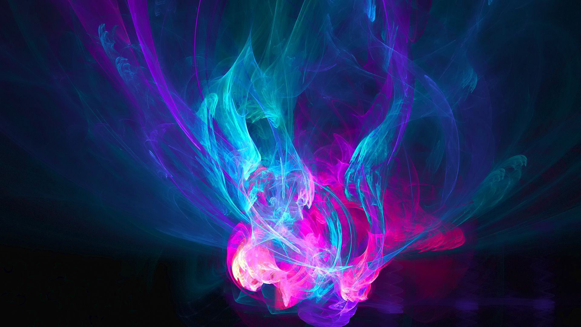 Abstract Fire Pink Blue Purple Patterns Hd Wallpaper