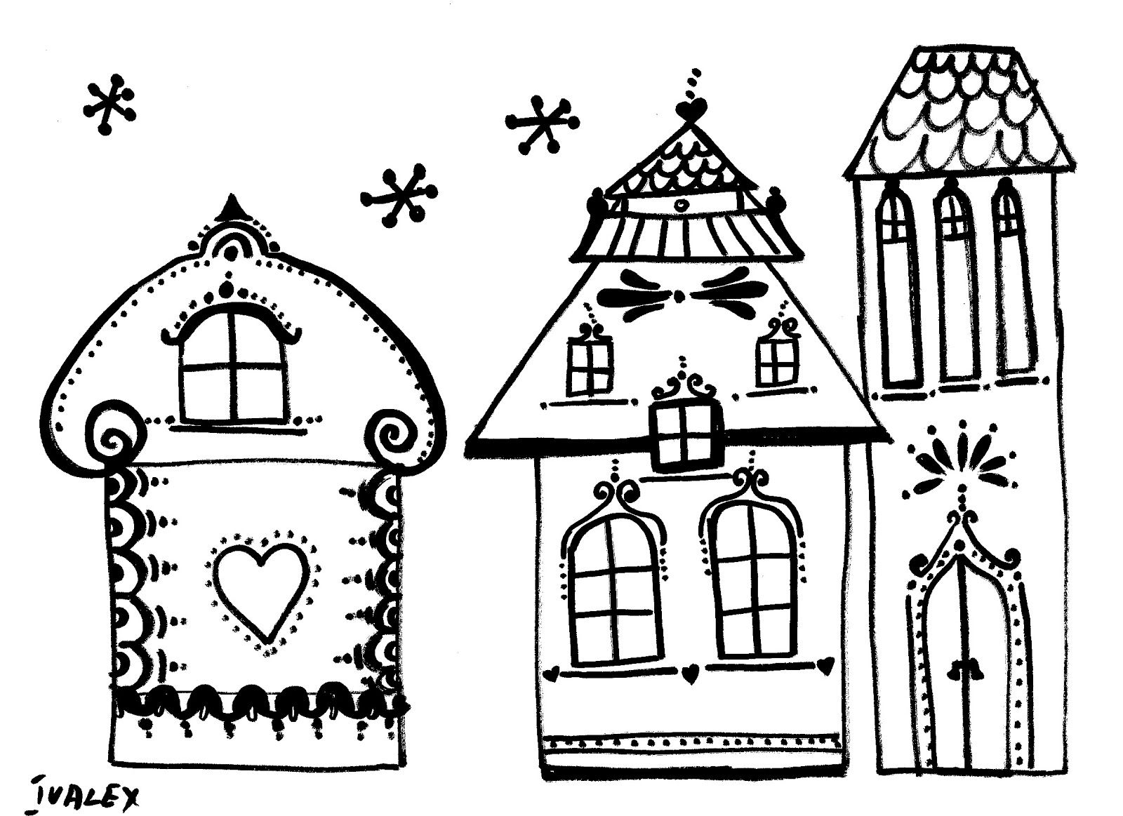 Winter houses templates | Made by me and my children / Направено от ...