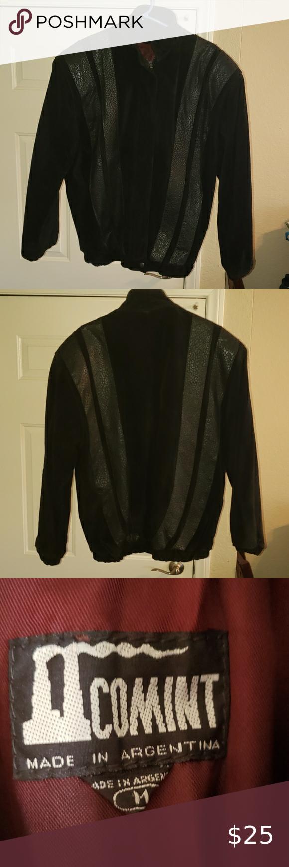 Comint Leather Jacket Vintage Vintage Leather Jacket Jackets Leather Jacket [ 1740 x 580 Pixel ]