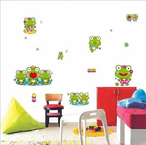 Wallmates Home Decorative Mural Vinyl Wall Sticker Happy Frog - Vinyl wall decals home party