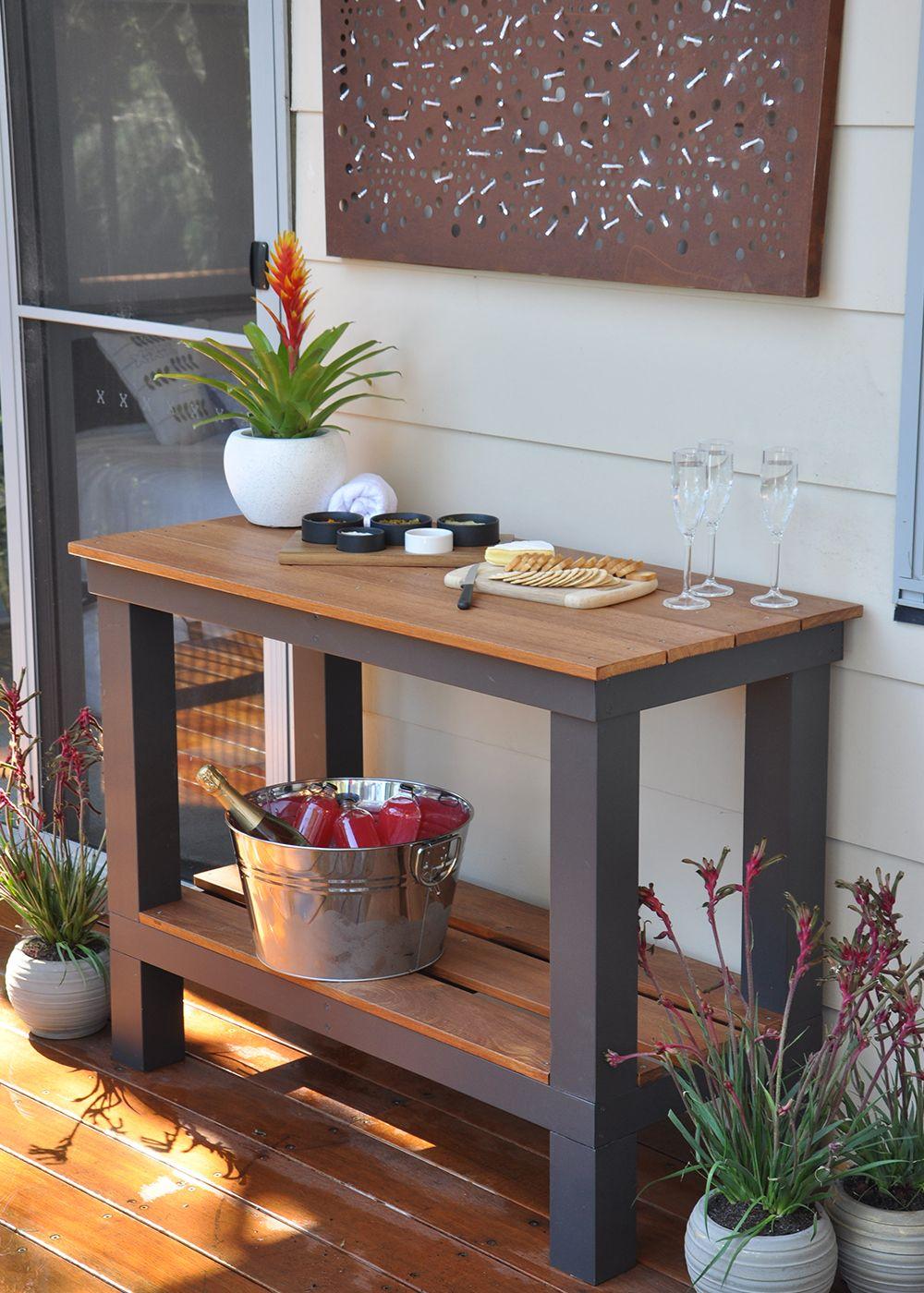DIY outdoor bench | Ikea garden furniture, Outdoor garden ...