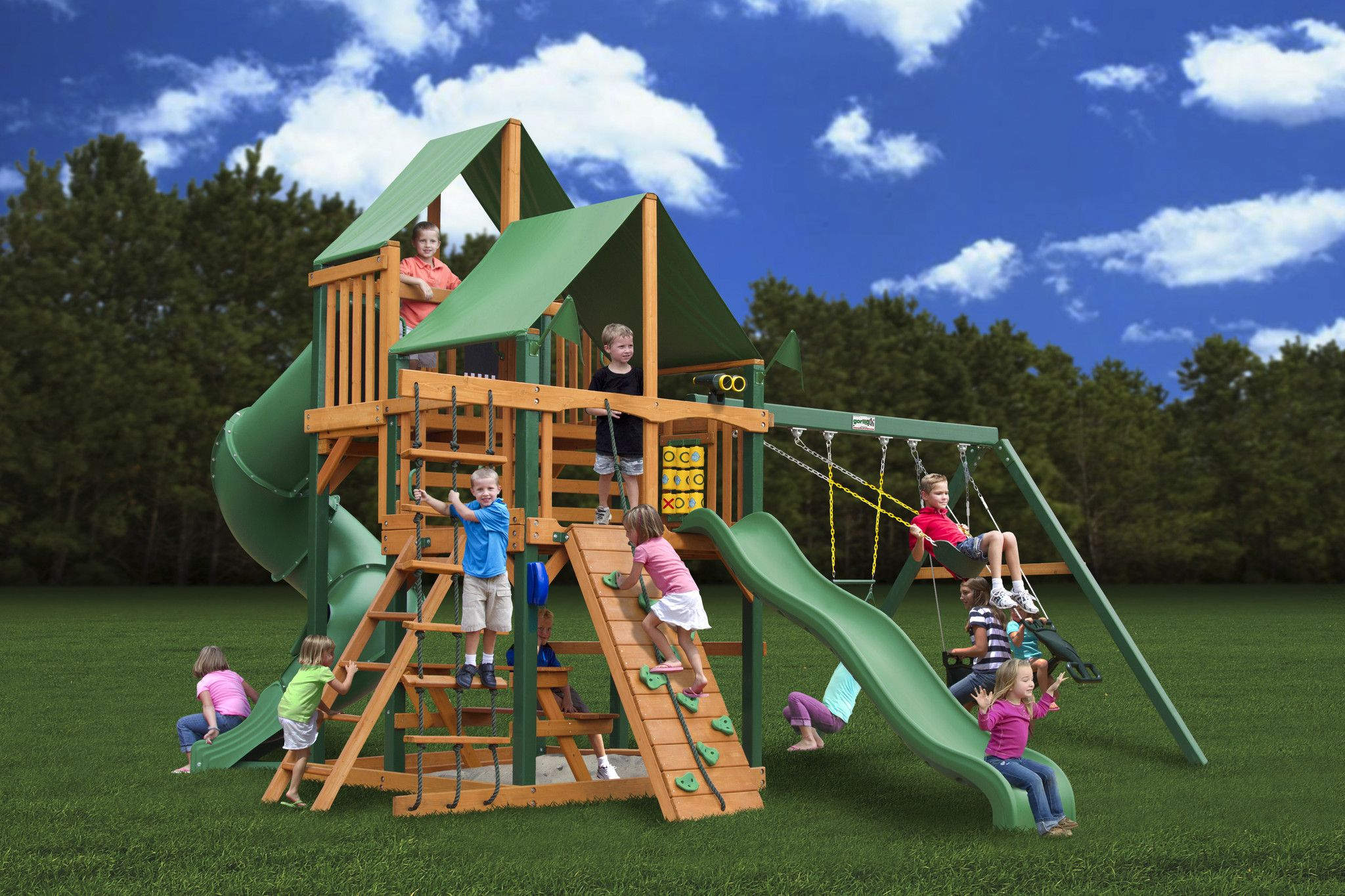 Gorilla Playsets Great Skye I Deluxe Wooden Swing Set from NJ Swingsets