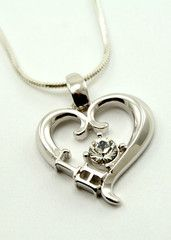Gamma Eta Sterling Silver Heart Pendant with Swarovski™ Clear Crystal  Oh I want this!!!