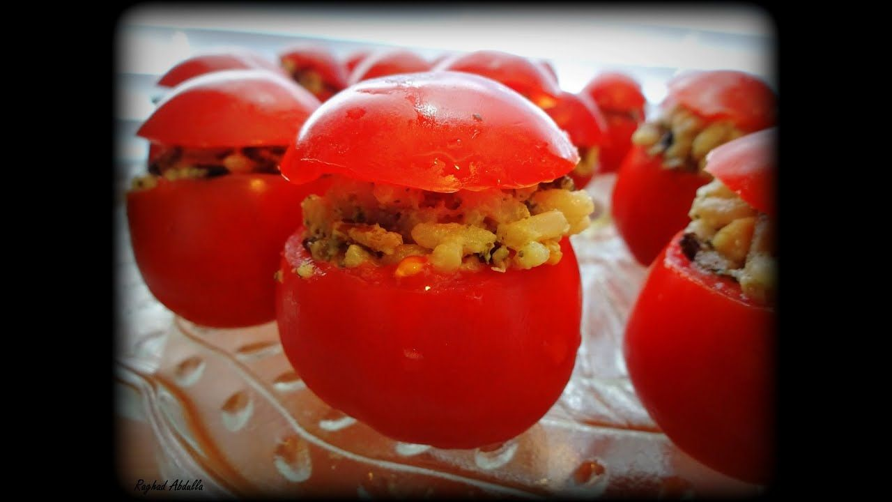 مقبلات قبعة رأس الطماطم Tomato Stuffed Peppers English Food