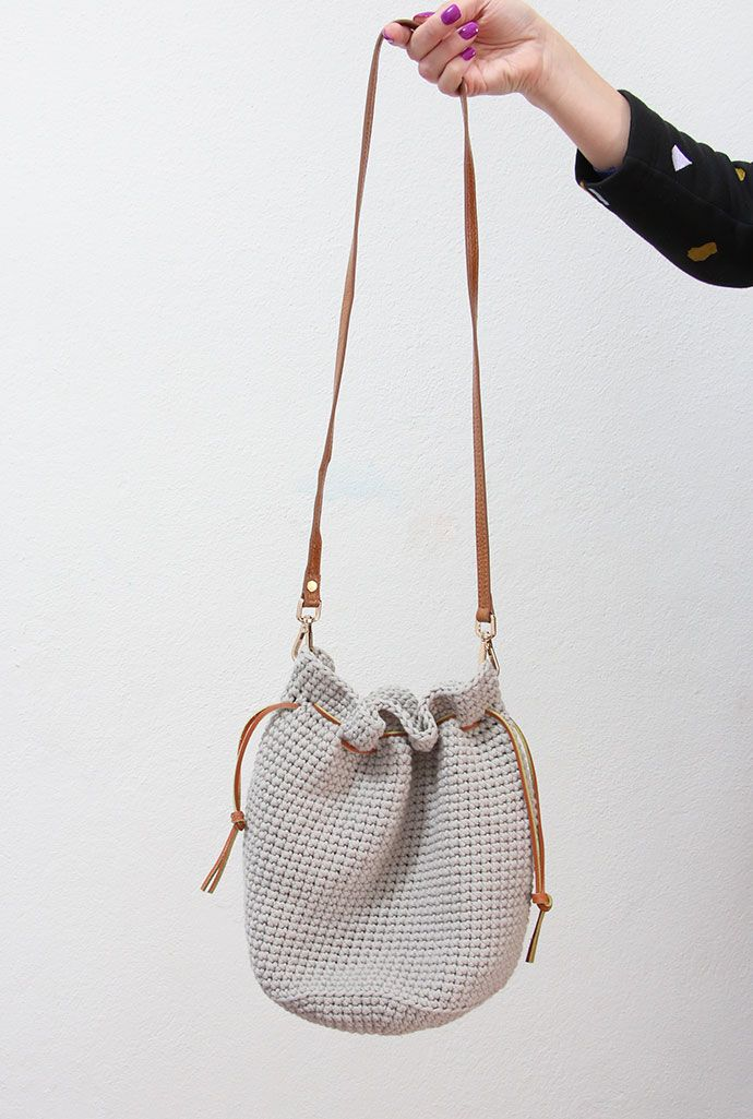 Crochet Pattern: Drawstring Bucket Bag | Bolsos, Ganchillo y Trapillo