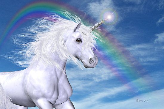 Beautiful Magical Unicorn With Rainbow D With Images