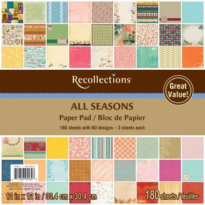 Recollections 180 sheet paper pad all seasons 3 arts recollections 180 sheet paper pad all seasons pronofoot35fo Gallery