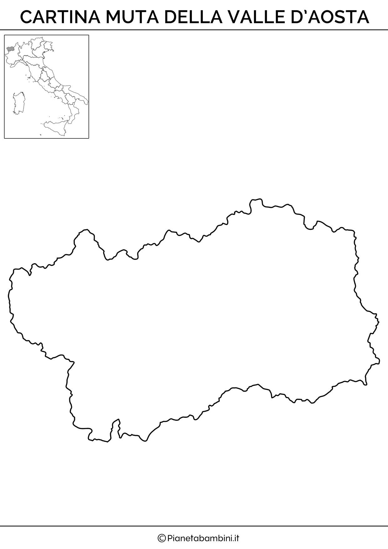 Cartina Della Valle D Aosta Politica.Cartina Muta Fisica E Politica Della Valle D Aosta Da Stampare Quaderni Matematici Lezioni Di Scienze Geografia
